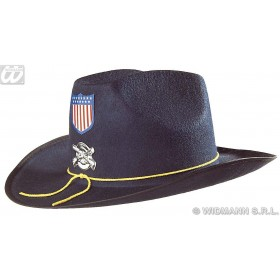 Felt Civil War Hat With Badge Blue - Fancy Dress