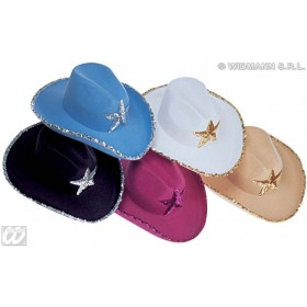 Cowboy Hat Sequin Decor Fashion Hat - Fancy Dress (Cowboys/Indians)