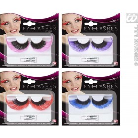 Eyelashes Extralong Black Base & Color Tip, Fancy Dress