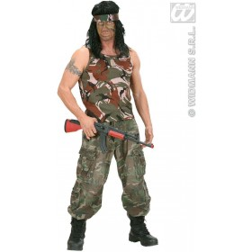 Camouflage Sleeveless Shirt - Fancy Dress (Army)
