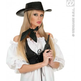 Neck Sash Satin - Black - Fancy Dress