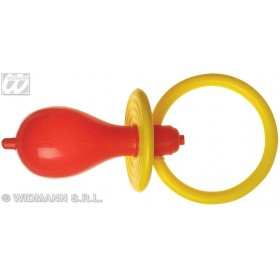 Pacifier Giant Sounding Yellow/Red Asst - Fancy Dress