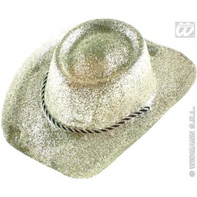 Cowboy Hat Glitter Pvc 3 Colours - Fancy Dress (Cowboys/Native Americans)