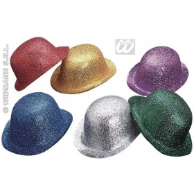 Glitter Bowler 6 Colours - Fancy Dress