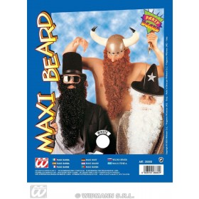 Maxi Beard W/Tash White Colour - Fancy Dress