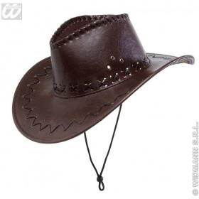 Leatherlook Brown Cowboy Hat - Fancy Dress (Cowboys/Indians)