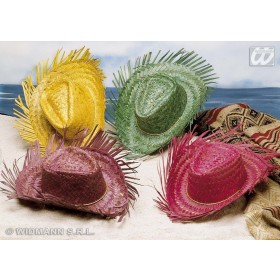 Straw Gringo Hat 4 Colours - Fancy Dress