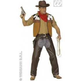 Cowboy Chaps Brown Leatherlook Fancy Dress Costume (Cowboys/Native Americans)
