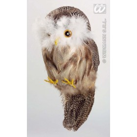 Owl Decorative Feathered - Fancy Dress (Halloween)