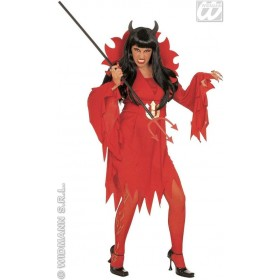 Xl Devilin Costume Dress & S/Up Collar Costume Ladies (Halloween)