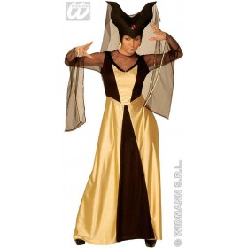 Enchanted Castle Queen Adult Gld/Blk Costume Ladies (Royalty)