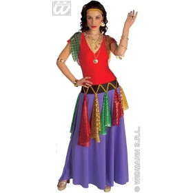 Gipsy Queen With Stretch Fabric Dress, Headband Costume (Royalty)