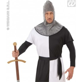 Medieval Warrior Hood Metallic Adult - Fancy Dress
