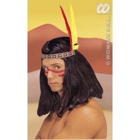 Native American Headress 2 Feathers - Fancy Dress (Cowboys/Native Americans)