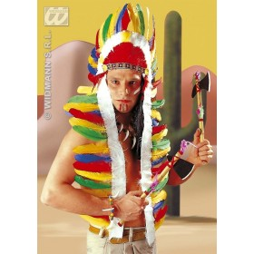 Native American Headdress 160Cm - Fancy Dress (Cowboys/Native Americans)