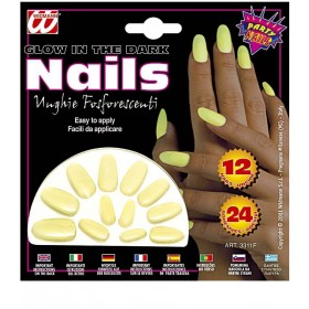 Glow In Dark Nails Set 12 - Fancy Dress
