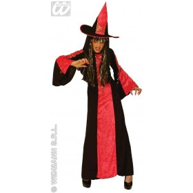 Castle Witch With Dress, Hat, 3 Cols Fancy Dress Girls (Halloween)