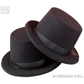 Flocked Top/Bowler Hat - Fancy Dress