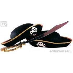 Child Pirate Felt Hat - Fancy Dress Boys (Pirates)