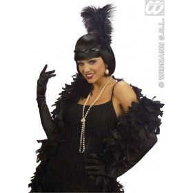 Black Cotton Gloves 60Cm - Fancy Dress
