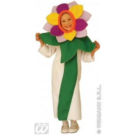 Flower -  - Headpiecewhite/Green Ass Costume Age 4-5
