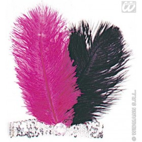 Charleston H/Band Sequin Gemstone Feathers Fancy Dress (1920S)