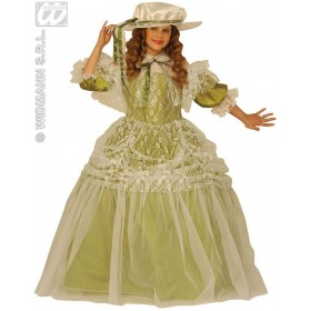 Milady With Dress With Wire Hoop, Hat Fancy Dress Girls (Medieval)