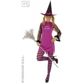 Spicy Witch With Dress, Hat 4 Cols Asstd. Fancy Dress (Halloween)