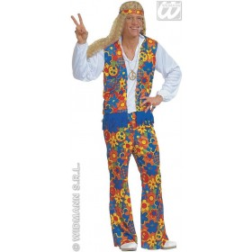 Hippie Costume Mens Fancy Dress Costume (1960S)