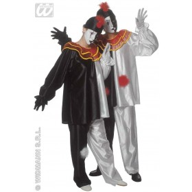 Pierrot Adult Fancy Dress Costume Mens (Clowns)