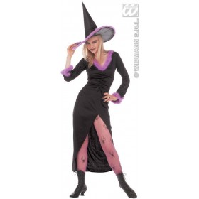 Fancy Witch Costume Marabou Trim 3Cols Costume Ladies (Halloween)