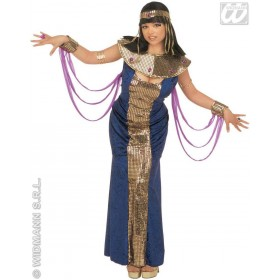 Nefertiti - Dress W/Veils, Wristbands, Collar.. Costume (Egyptian)