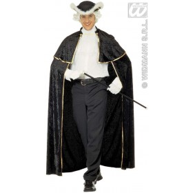 Venetian Velvet Cape W/Jabot 142Cm Fancy Dress Costume (Halloween)