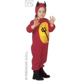 Devil & Jumpsuit & Headpiece, Costume Age 2-3 Boys (Halloween)