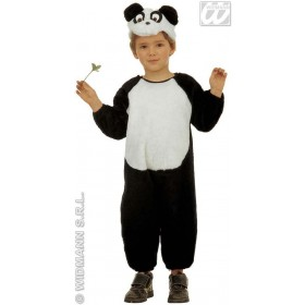 Plush Panda - Jumpsuit & Headpiece Costume Kids Age 3-4 (Animals)