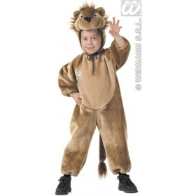 Plush Lion & Jumpsuit, Headpiece Costume Kids Age 3-4 (Animals)