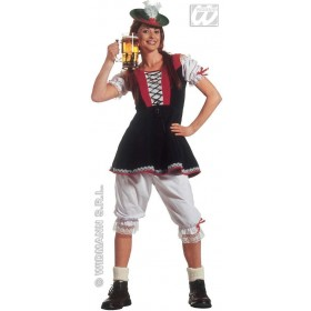 Bavarian Lady Adult Fancy Dress Costume Ladies (Cultures)