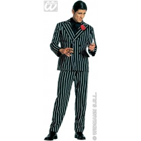 Gangster With Jacket And Pants Fancy Dress Costume Mens (1920S)