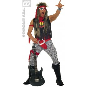 Rock Star Costume Adult Mens Fancy Dress Costume