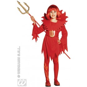 Devilin - Dress And Belt - Stand, Up Collar Costume (Halloween)