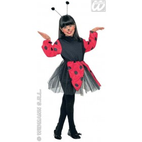 Bug Dress Red/Blk W/Antenna Child Fancy Dress Costume