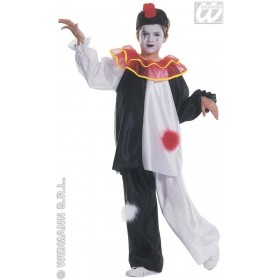 Pierrot Costume Child Fancy Dress Costume Boys (Clowns)