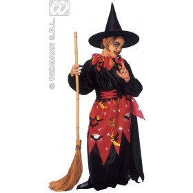 Witch With Coat, Skirt, Belt, Hat Deluxe Fancy Dress (Halloween)
