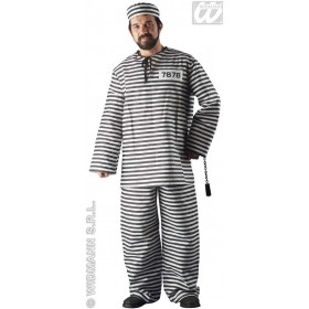 Prisoner Adult Fancy Dress Costume Mens (Cops/Robbers)