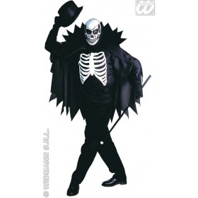 Scary Skeleton Adult Fancy Dress Costume Mens (Halloween)