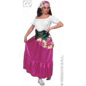 Gypsy With Dress, Belt, Scarf Fancy Dress Costume (Cultures)