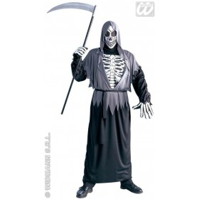 Grim Reaper Costume Adult Economy Fancy Dress Costume (Halloween)