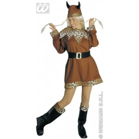 Viking Lady - Dress, Belt, Boot Covers, Helmet Costume (Viking)