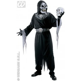 Master Of Evil - Hooded Robe, 3D Belt, Collar Costume (Halloween)