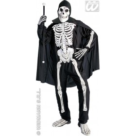 Opera Skeleton Adult Fancy Dress Costume Mens (Halloween)